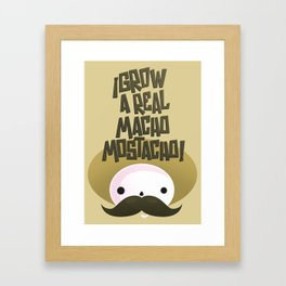 macho mostacho  Framed Art Print