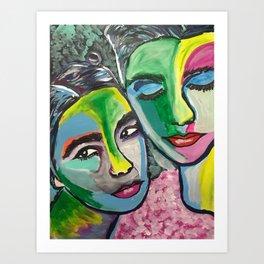 Björk and PJ Art Print