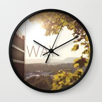 norway Wall Clocks featuring Way, Norway by Hana Savana