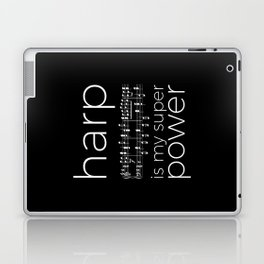 Harp is my super power (2) (black) Laptop & iPad Skin