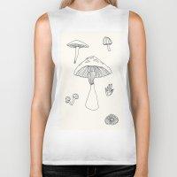 mushrooms Biker Tanks featuring Mushrooms by Magnetism