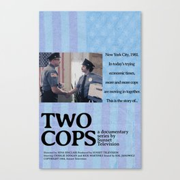 Two Cops Movie Poster Canvas Print