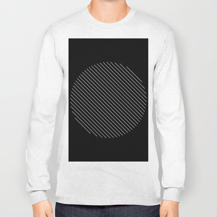 Tilt - Black and White Minimalism Abstract Long Sleeve T-shirt