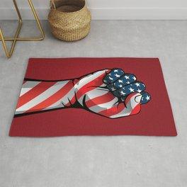 American Patriotic Raised Fist Rug