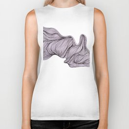 Abstract organic line drawing doodle 4 Biker Tank