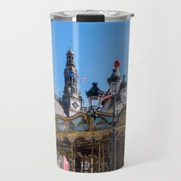 Merry go round on the square in front of the City Hall - Paris Travel Mug