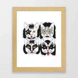 Cat Kiss Framed Art Print