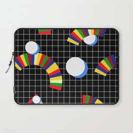 Memphis Grid & Rainbows Laptop Sleeve