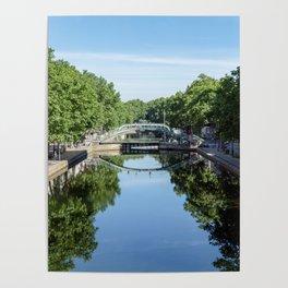Bridge over the Canal Saint-Martin in Paris Poster
