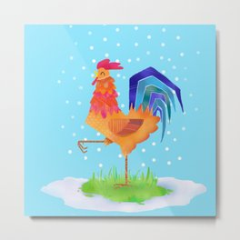 New Year rooster 2017 Metal Print