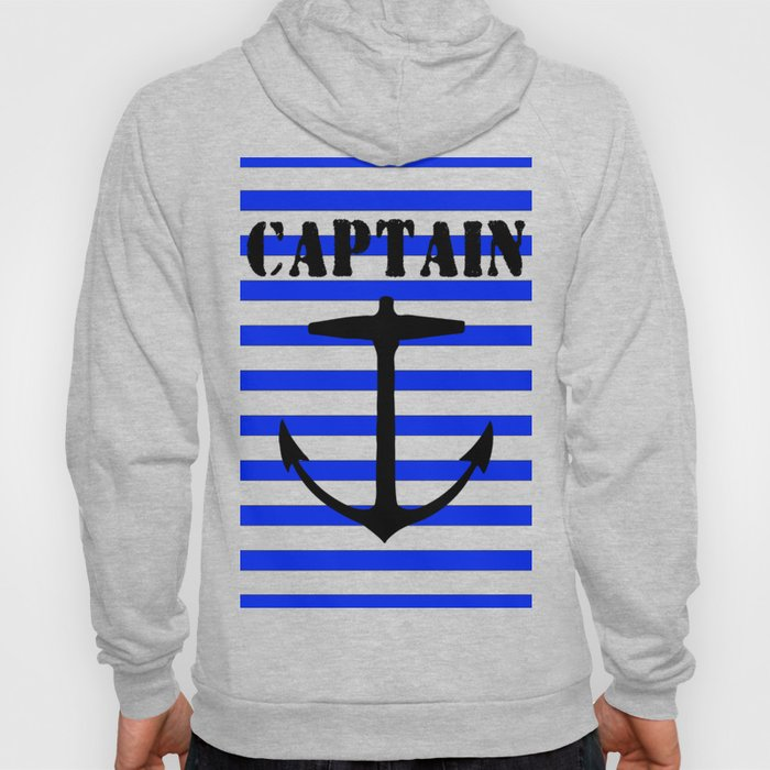 Captain and anchor logo Hoody