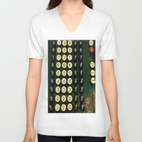 numbers V-neck T-shirts featuring Numbers by Hazel Bellhop