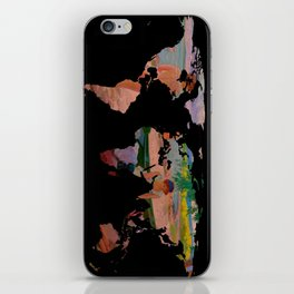 World Map Silhouette - Undressing at The Beach (blk) iPhone Skin