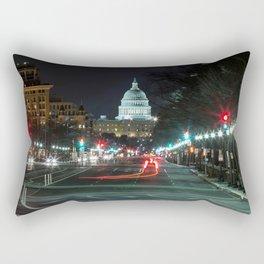 DC At Night Rectangular Pillow