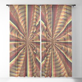 Whirling Sheer Curtain