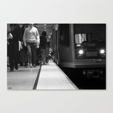 San Francisco Muni in Black and White Canvas Print