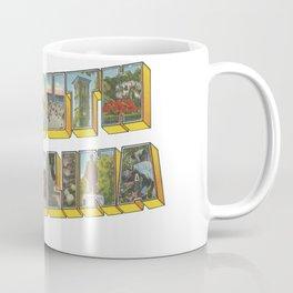 Vintage Big Letter South Carolina Coffee Mug