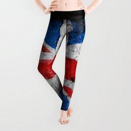 UK Grunge flag Leggings