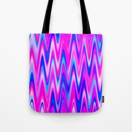 WAVY #1 (Blues, Purples & Fuchsias) Tote Bag