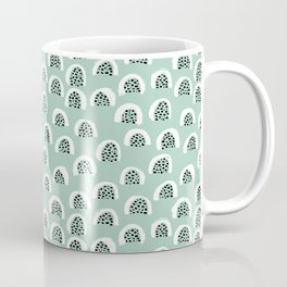 Minty Melon love abstract brush paint strokes yellow ochre Coffee Mug