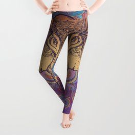 Brown Ganesha Leggings