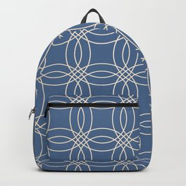 Simply Vintage Link in White Gold Sands and Aegean Blue Backpack