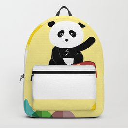 Panda on a skateboard Backpack