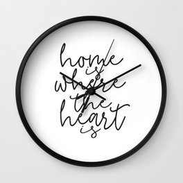 HOME SWEET HOME, Home Is Where The Heart Is,Home Sign,Home Wall Decor,Home Quote,Motivational Quote, Wall Clock