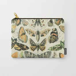 Vintage Butterfly Diagram // Papillions by Adolphe Millot XL 19th Century Science Textbook Artwork Carry-All Pouch