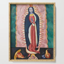 The Virgin of Guadalupe by Marsden Hartley Serving Tray
