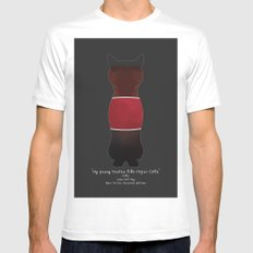 My Pussy Taste Like Pepsi Cola - Red SFW Version White Mens Fitted Tee MEDIUM
