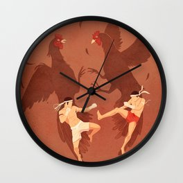 Thai Fighter Wall Clock