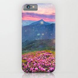 Blooming mountains iPhone Case
