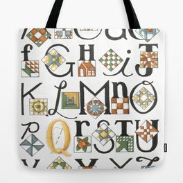 The ABC's of Quilting Tote Bag
