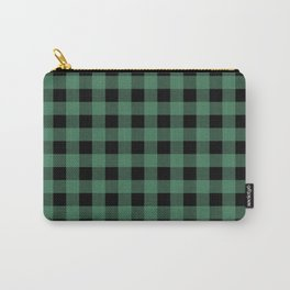 Green Flannel Carry-All Pouch