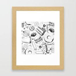 Delicious pattern Framed Art Print