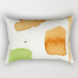 Orange and Green Abstract Art Rectangular Pillow