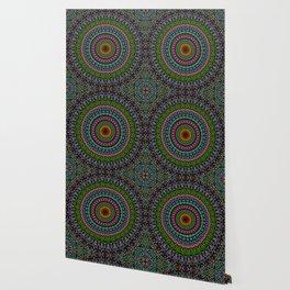 Hypnotic Church Window Mandala Wallpaper