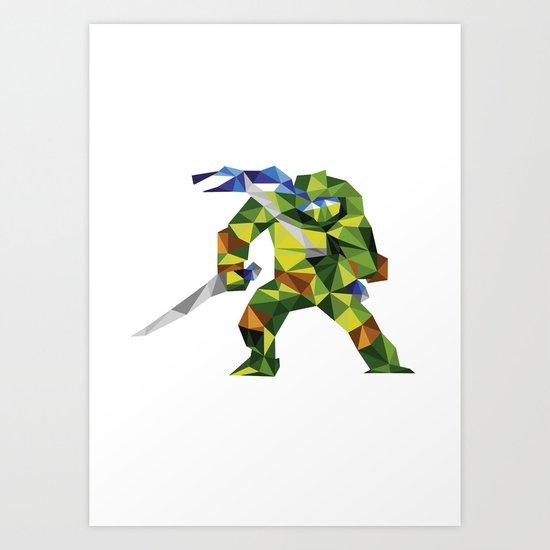 Katana Turtle Art Print