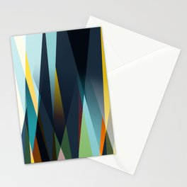 mid century geometry Stationery Cards