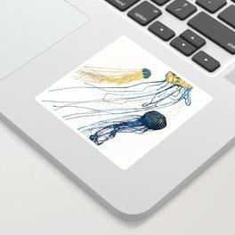 Metallic Jellyfish II Sticker