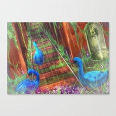 The Blue Swan Canvas Print