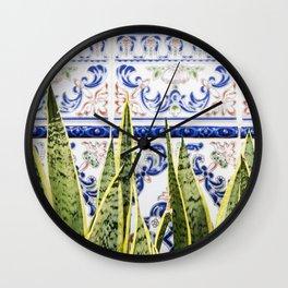 Moroccan Botany #society6 #decor #buyart Wall Clock