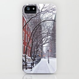 Snow Streets, Washington Square North iPhone Case