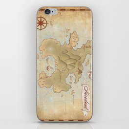 Map of Neverland iPhone Skin