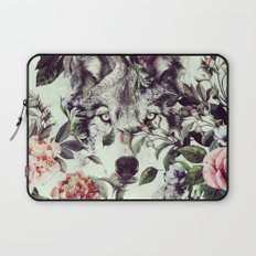 Floral Wolf Laptop Sleeve