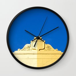 Blue Sky and 2 Yellows Wall Clock