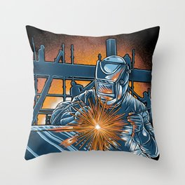 I'm Welder Throw Pillow