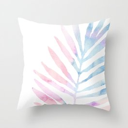 Palm Leaf - Tropical Throw Pillow