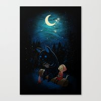 camping Canvas Prints featuring Camping 2 by Freeminds